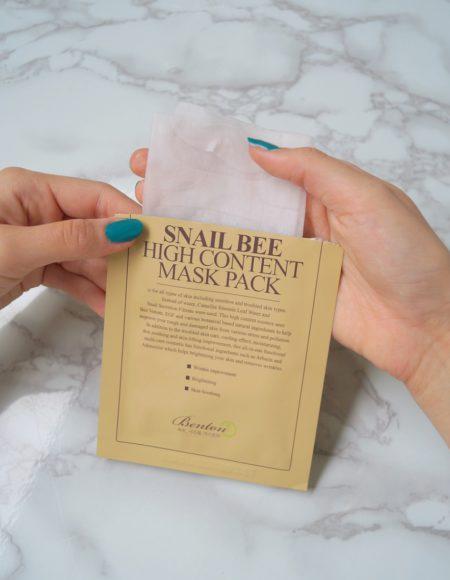 Snail bee high content -kasvonaamio Bentonilta