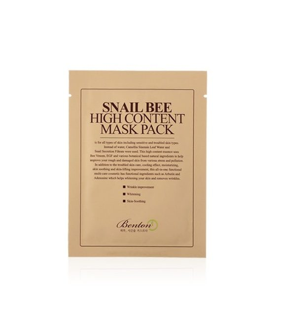 Benton Snail Bee High Conent Mask Pack