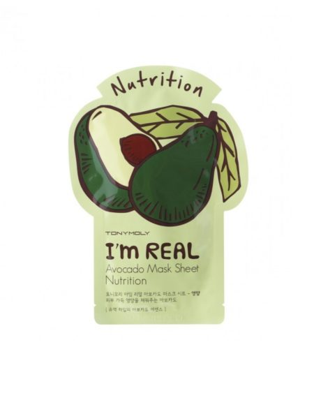 TonyMoly I'm Real Avocado Mask Sheet Skin Nutrition