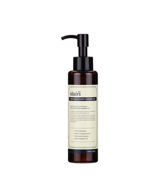 Klairs-Black-Gentle-Deep-Cleansing-Oil