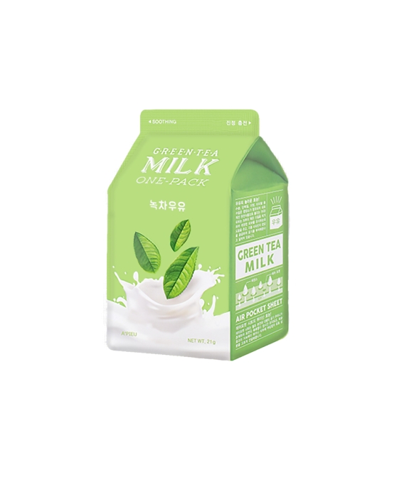 Apieu_GreenTea_Milk_One_Pack_Mask