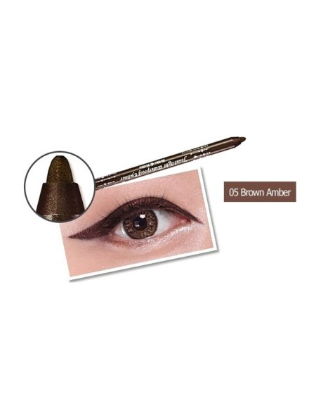 Jewel-Light Waterproof Eyeliner 05 Brown Amber