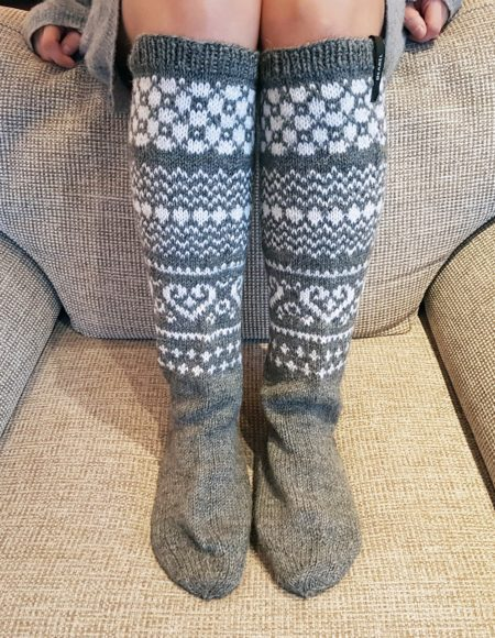 Cosy Holidays Knee High Socks - villasukat