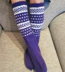 Violet Vibes Knee High Socks - villasukat