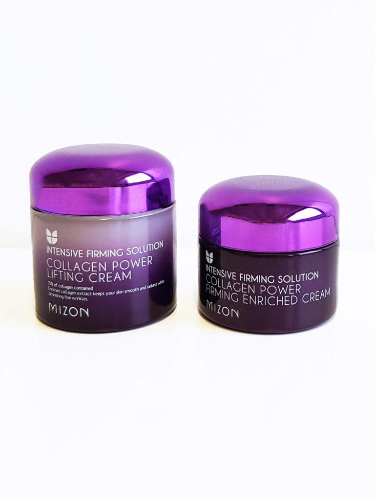 Mizon Collagen Power Firming ja Lifting purkit