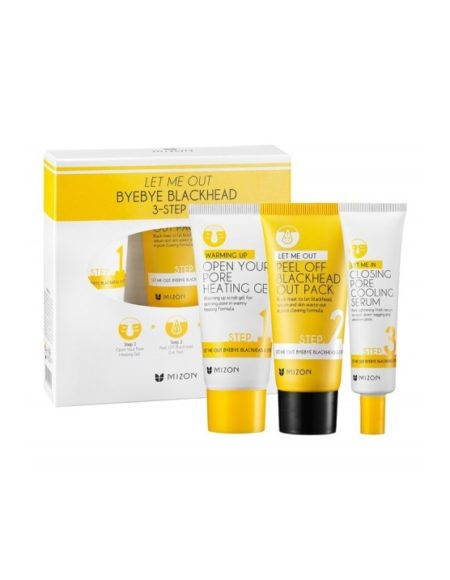 Mizon Let Me Out Byebye Blackheads 3-Step Kit