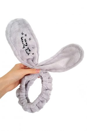 Bunny Ears Hair Band vaaleanharmaa