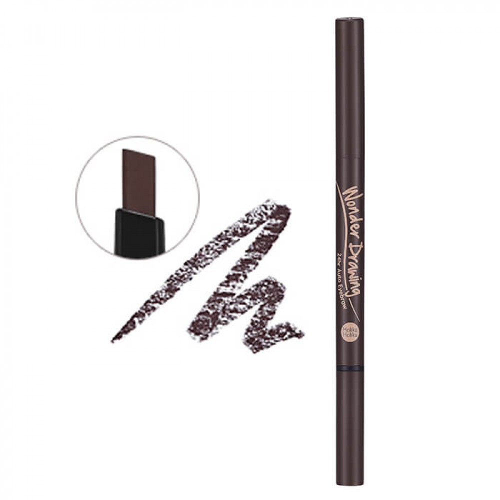 holika holika wonder drawing 24hr auto eyebrow dark brown