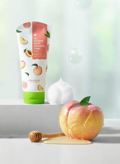 Frudia Mochi Cleansing Foam Peach 1