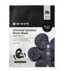 charcoal solution black mask mizon