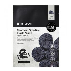 charcoal solution black mask mizon