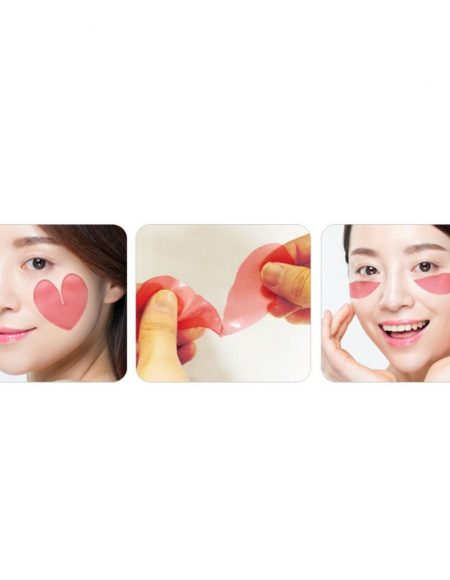 pink racoony hydrogel eye & cheek patch 3kpl