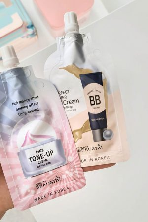 Beausta Pink Tone-Up Cream ja BB Cream