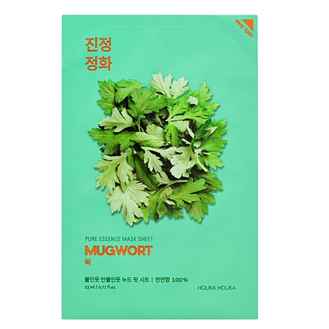 pure essence sheet mask mugwort