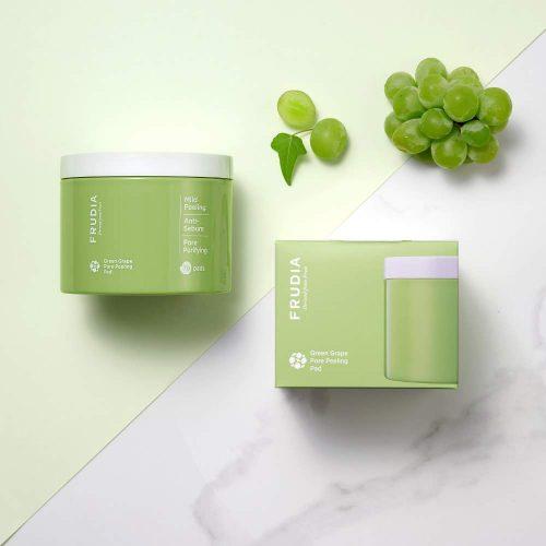 green grape pore peeling pad kuorintalaput